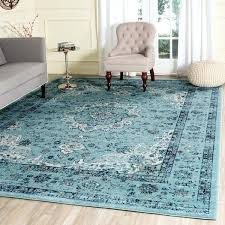 evoke vintage oriental light and dark blue distressed rug safavieh grey ivory