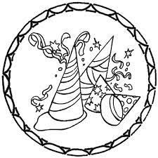 Ein mandala mit fünf verschiedenen verkleidungen für karneval, fasching oder halloween. Fasching 2 Ausmalbilder