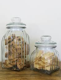 Retro Kitchen Storage Jars Retro Ribbed Glass Storage Jar Buy Retro Homeware The Den Now