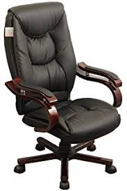 luxury leather office chair. luxury wooden frame extra padded desk computer office chair in five colours black leather x