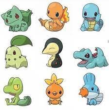 The first three generations of Starters | Pokemon funny, Pokemon fan, Cute  pokemon