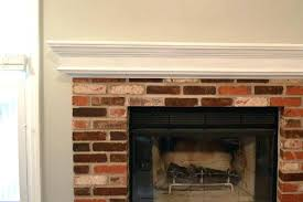 fireplace mantel height floating mantle how to update a brick fireplace on budget install floating mantel