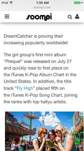 Dreamcatcher Rises To Top Of U S Itunes K Pop Album Chart
