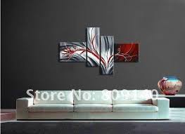 stretched contemporary abstract oil painting canvas grey red artwork handmade home office hotel wall art decor free ship gift in painting calligraphy from  on grey red wall art with stretched contemporary abstract oil painting canvas grey red artwork