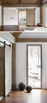 modern interior barn doors. The Wood On This Sliding Door Matches Used For Beams In Bedroom And Creates A Look Of Continuity. Modern Interior Barn Doors I