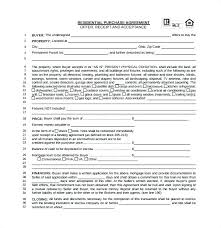 Basic Real Estate Sales Contract Template Sample Home Purchase ...