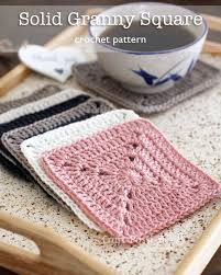 Easy Crochet Granny Squares Free Patterns Gorgeous Solid Granny Square Free Crochet Pattern Craft Passion