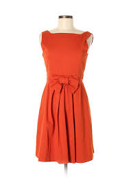Details About Red Valentino Women Orange Casual Dress 42 Italian