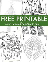 Small Picture Free Christmas Colouring Pages for Adults and Teens Mum In The