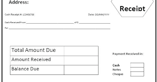 Cash Received Receipt Inspiration Receipt Document Template Received Receipt Template Cash Receipt