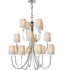 visual comfort tob5019pn np thomas obrien reed 16 light 33 inch polished nickel chandelier ceiling light