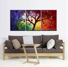 inspiring design ideas 3 piece canvas wall art sets designing home tree hand painted abstract white flower set murals at on set of three framed wall art with inspiring design ideas 3 piece canvas wall art sets designing home