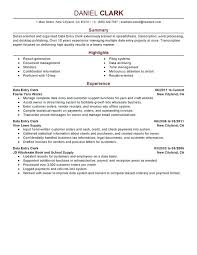 Resume Summary Examples Entry Level Engineer Template For Writing A