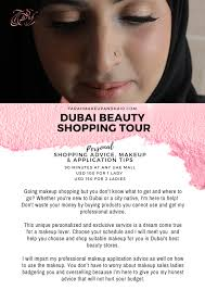 a personal makeup ping consultation session which includes a meet up at one of the major malls in uae that is convenient to you
