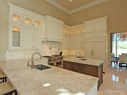 Limestone Flooring Kitchen Contemporary Kitchen With Inset Cabinets High Ceiling In Palm