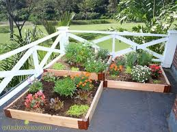 tiered raised garden bed cedar corner