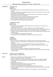 Android Resume Samples Velvet Jobs