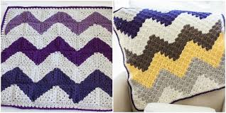 Chevron Crochet Blanket Pattern Simple C48C Chevron Baby Blanket One Dog Woof