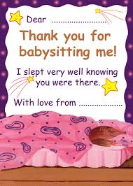 babysitting certificates thank you for babysitting me rooftop post printables