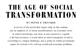 the age of social transformation