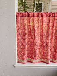 india rose luxury pink fl indian kitchen curtain
