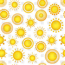Sun Pattern Mesmerizing Sun Seamless Pattern Vector Image Vector Artwork Of Backgrounds