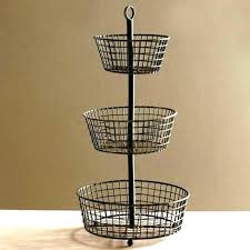 kitchen basket stand 3 tiered wire basket fruit storage basket rustic 3 tier fruit basket stand