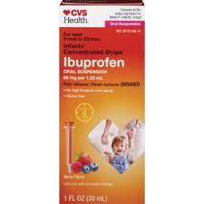 Ibuprofen Concentrated Drops Dosage Chart Cvs Health Infants Concentrated Drops Ibuprofen Oral