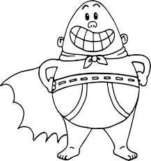 This set of coloring pages for children is pretty unique. Very Easy Coloring Pages Captain Underpants Movie For Kids Pictures Ecolorings Info