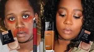 full face using maybelline easy everyday makeup tutorial dark skin makeup for black women