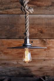 the bunker pendant metal hanging rope pendant light steel industrial lighting vintage rustic
