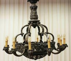 Bronze Kronleuchter Um 1860 Bronze Grosslager Antik Vehrs