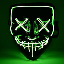 Light Up Skull Mask Us 9 51 32 Off Halloween Neon Mask Light Up Purge Mask Skull Funny Costume Election Party Masks Glow In Dark Scary Movie Cosplay Supply In Party