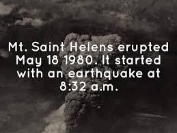 「1980 – Mount St. Helens erupts」の画像検索結果