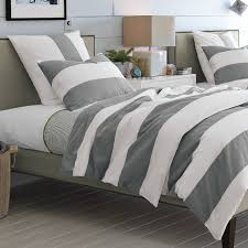grey white stripe duvet cover sweetgalas