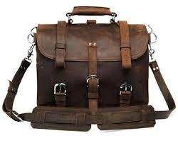 men large 17 genuine saddle leather messenger bags briefcase laptop backpack