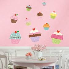 happi cupcake giant wall stickers by roommates
