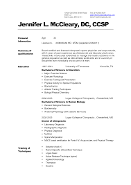 example of medical cv