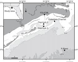 A Chart Of The Northern Gulf Of Mexico Off The Panhandle