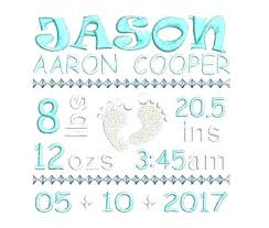 Template For Birth Announcement Baby Announcement Template