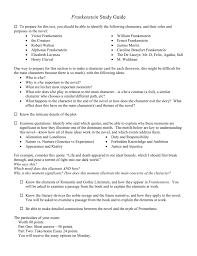 frankenstein study guide short answer