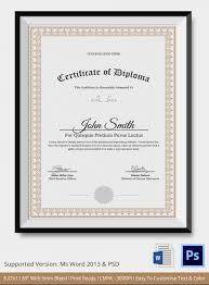 diploma certificate templates diploma certificate template  diploma certificate templates diploma certificate template 25 word pdf psd eps printable