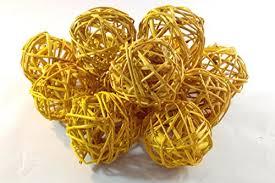 Decorative Bowl Filler Balls Amazon Decorative Spheres Amber Yellow Rattan Ball Vase 59