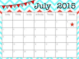 July 2015 Calendar By Clarks Creative Creations Tpt