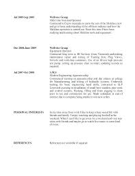 Personal Interest Resume Interest Examples For Resume Wikirian Com