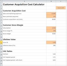 customer acquisition cost customer acquisition cost calculator plan projections