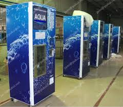 Window Water Vending Machine Cool Coin And Note And Card Reader Ro Pure Drinking Water Vending Machine
