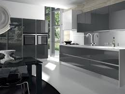 Modern Glass Kitchen Cabinets Modern Grey Kitchen Cabinets Outofhome
