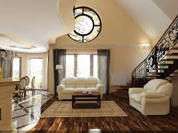 Interior:Classic Simple Home Interior Design With Luxury Stair Design  Complete With White Sofa Also