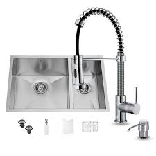 vigo all in one undermount stainless steel 29 in double bowl kitchen sink